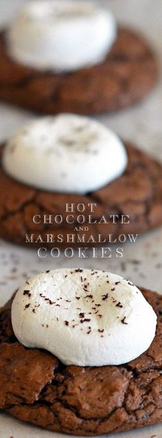 Hot Cocoa Cookies with Marshmallows   ~The Dinner Prescriptor~