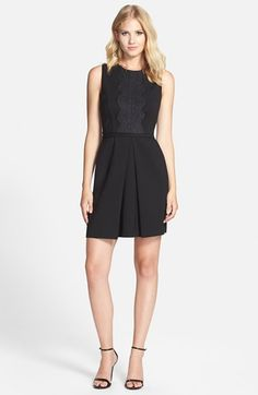 Cynthia Steffe 'Liza' Lace Trim Dress | Nordstrom