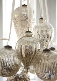 Mercury glass balls.