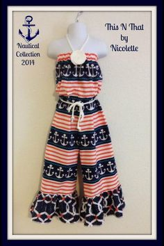 Nautical Jumper sizes 3 months to 10 years by ThisNThatByNicolette, $30.00