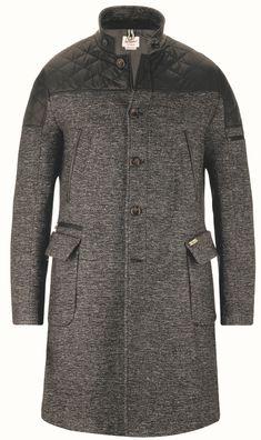 4f0dc2d01358b Silvano - High Fashion für Ihn! Herrenmantel aus Twill im interessanten  Materialmix