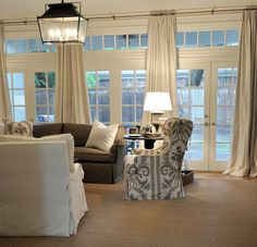 Just like windows, doors with views to the outside world need to be dressed. But they can be tricky because doors -- whether they're sliding or French -- are functional parts of the room, and the wrong window treatment can hold up traffic. These rooms show you how to dress your windows stylishly while keeping function at ... #classicwindow #modernwindow Windows And Doors