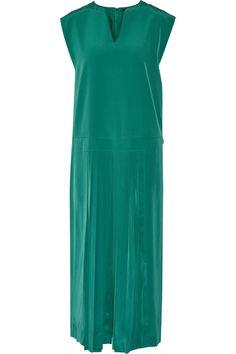 TIBI Simone Pleated Silk Jumpsuit. #tibi #cloth #jumpsuit