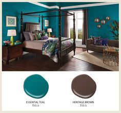 The time has finally come for the release of our 2015 color trends! Our goal this year- to show how color use can be balanced through an intermixing of different tones, values and intensities. Paint Colors For Living Room, Paint Colors For Home, Room Paint, Bedroom Colors, House Colors, Living Room Decor, Teal Paint Colors, Home Bedroom, Bedroom Decor