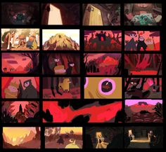 old backgrounds from an old project that we're still trying to finish. aaand a lil color script at the end Animation Storyboard, Animation Reference, Matte Painting, Concept Art Gallery, Color Script, Character Design Animation, Cg Art, Environment Concept Art, Color Studies