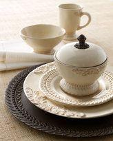GG Scroll Style Round Ceramic Salad Bowl