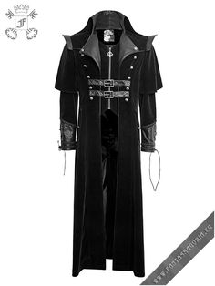Y-636 The Ghost. Long men's coat by punk rave | Fantasmagoria.eu - Gothic Fashion boutique