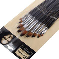 9Pcs/Set Tongue-shaped Nylon Hair Paint Brush water Chalk Drawing Oil Art Supply - http://crafts.goshoppins.com/art-supplies/9pcsset-tongue-shaped-nylon-hair-paint-brush-water-chalk-drawing-oil-art-supply/