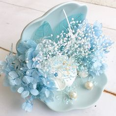 Ring Pillow Wedding, Aesthetic Collage, Shell Crafts, Galaxy Wallpaper, Pastel Blue, Soft Colors, Color Themes, Pretty Flowers, Wedding Accessories