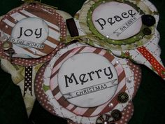 Christmas crafts - tags