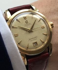 Omega Seamaster Gold plated Automatic Bumper with Date