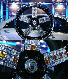 THIS FOR ME IS PURE NONSENSE, PURE STUPID EGO    Asanti's diamond-encrusted 22 inch Jewel Wheels are the world's most expensive tire rims. Asanti will set you up with rubies, sapphires or any other jem your little heart desires. The rims will costs you US$325,446 for 4 units (one set).