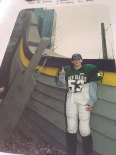 Me by the Viking Ship outside of the Vikes      practice facility called Winter Park in Pinterest