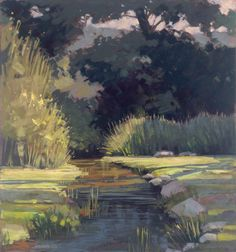 Herring Run, pastel, by Liz Haywood-Sullivan