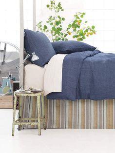 Beautiful Chambray Linen Duvet