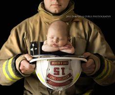 Firefighter & Baby - Best Newborn Photographer, November 2011