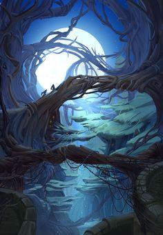 https://www.behance.net/gallery/29891563/mysterious-forest