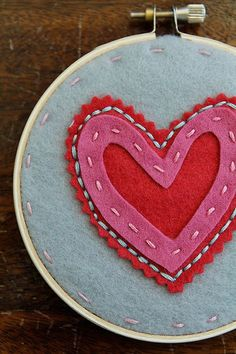 Decorate with Valentine's Day themed embroidery hoops #valentines #day