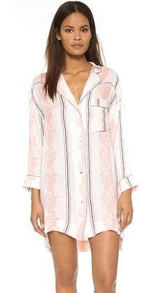 Can't bear the idea of wearing shorts or pants to bed? Try an oversized shirtdress. #refinery29 http://www.refinery29.com/cute-pajamas#slide-8