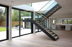 The Demax Coach House Cantilever Staircase is just stunning. No supports, the free-standing cantilever is an engineering masterclass. Just wow.