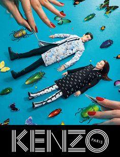 KENZO(ケンゾー)2013-14秋冬の広告で、菊地凜子が標本に!?の写真1