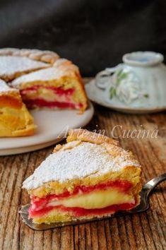 Crostata zuppetta con pan di spagna e crema – Rezepte Italian Cake, Italian Desserts, Italian Recipes, Italian Menu, Italian Dishes, Sweet Recipes, Cake Recipes, Dessert Recipes, Picnic Recipes
