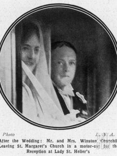 The marriage of Winston Churchill to Clementine Hozier on this day 12th September, 1908, their marriage lasted more than 50 years until Winston's death in 1965 (one of the only surviving photos of their wedding day)