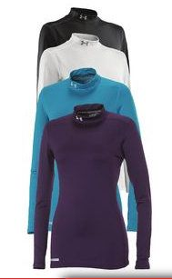 Under Armour Women's ColdGear Fitted Mock Neck Shirt