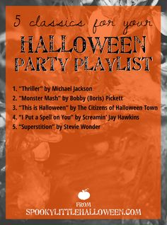 Need some help creating the perfect Halloween party playlist? Spooky Little Halloween has you covered with these 5 classics to include! Spooky Music, Halloween Music, Halloween Town, Halloween Playlist, Party Playlist, Song Suggestions, Stevie Wonder, Halloween Projects, Playlists