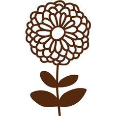 Silhouette Design Store - View Design #20552: flower