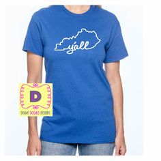 Kentucky Y'all shirt, Wear your home state with pride! by DebbieDoodleDesigns on Etsy https://www.etsy.com/listing/225904593/kentucky-yall-shirt-wear-your-home-state