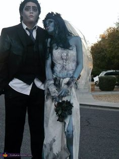 Emily and Victor from Tim Burton's Corpse Bride - Halloween Costume Contest