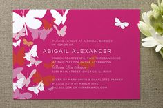 Butterfly Gathering Bridal Shower Invitations by Cheree Berry Paper at minted.com