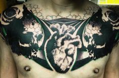 Abstract Tattoo by Image Artcore? Chest Piece Tattoos, Chest Tattoo, Tattoo Skin, I Tattoo, Unique Tattoos, Cool Tattoos, Heart Tattoos, Awesome Tattoos, Tattoo Images