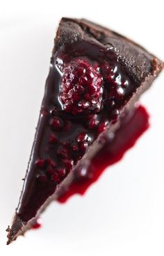 David Lebovitz's Chocolate Orbit Cake with Blackberry-Cassis Sauce | 21 Flourless Chocolate Desserts That Will Never Let You Down
