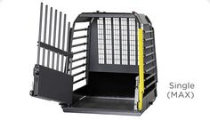 MIM Safe Variocage Single | 4x4NorthAmerica  MIM Safe Variocage Single     The MIM Safe Variocage Single is safe and very practical. It is designed to provide protection while leaving sufficient space for other cargo. The flexibility of the MIM Safe Variocage can easily be tailored to the dog and the vehicle by the owner.