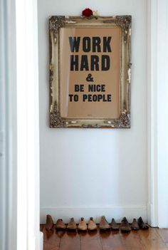 Work hard and be nice to people. If you aren't already, it's never too late to start.