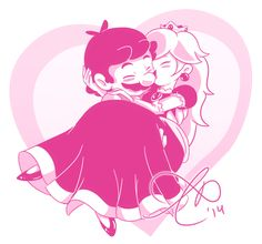 mario and peach by Rainmaker113 on DeviantArt