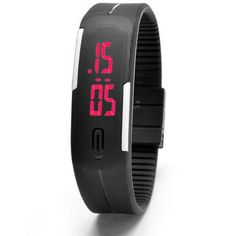 LED watch women fashion sports watches silicone candy multicolor touch screen digital man Wristwatch bracelet