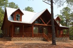#McCurtainCounty The Ponderosa - Located in Kaniatobe Trails South, this beautiful 2870 sq ft cabin completed in September of 2013 sits on 1.56 ...
