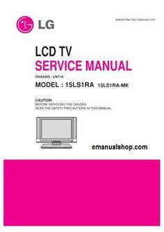 222 best service repair manuals images on pinterest repair manuals rh pinterest com 42 LG TV Manual LG TV Sizes