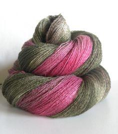 Woodland - Eco Hand Dyed CashSilk laceweight Yarn - over 800 yards ~ Eliade