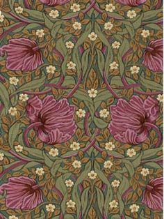 William Morris wallpaper.  The Arts and Crafts Movement began primarily as a search for authentic and meaningful styles for the 19th century and as a reaction to