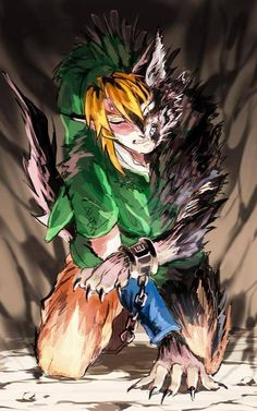 Thank goodness Link was unconscious when he was really turned into that wolf