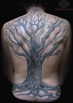 Tree Tattoo on Full Back-- inspiration for back piece