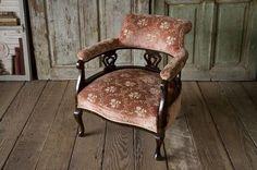 Chair アンティークアームチェアフレンチ家具椅子猫脚希少fa 220 インテリア 雑貨 Antique ¥42000yen 〆06月24日