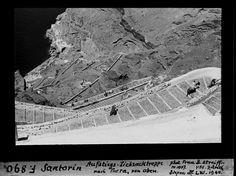 ΣΑΝΤΟΡΙΝΗ Oia Santorini, Greek Islands, Old Photos, Greece, Past, Louvre, Traditional, Black And White, Travel