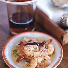 Garlicky Shrimp with Olive Oil | Serve with plenty of bread to dip into the garlicky oil once the shrimp have been eaten.