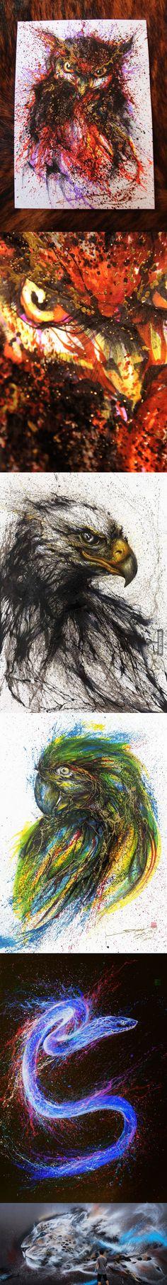 Amazing Ink-Splatter Paintings