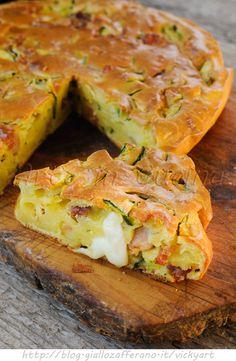 Torta con zucchine e salumi ricetta salata